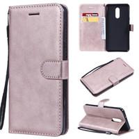 Pour LG K40 / K12 Plus / 5 Couverture de Stylo Case Wallet flip stand sacs en cuir pur pour OnePlus 7 / OnePlus 6T / OnePlus 7 Pro