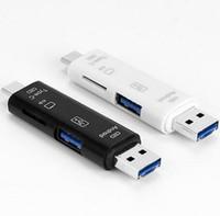 5 en 1 usb 3.1 lecteur de carte haute vitesse lecteur de carte micro SD SD TF 5in1 USB C micro mémoire USB 3 en 1 lecteur de carte OTG