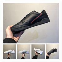 Caixa antiga AD Continental 80 Couro Rascal x Kanye West sapatos casuais Homens Cinzento Rosa Branco OG Núcleo preto Aero Azul Moda Sneakers 36-45