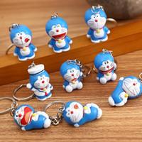 20pcs / lot dessin animé mignon robot chat doraemon doraemon chat de décoration de poupée de poupée de poupée pendentif pendentif porte-clés porte-clés animal