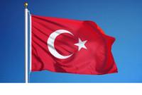 Banderas Bandera personalizada 90x150cm Turquía País Nacionales 3x5 FT de Turquía Fying colgantes para la decoración de Guerra del Ejército