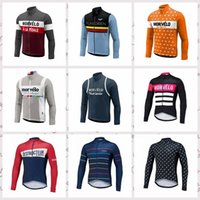 Morvelo Ciclismo Jerseys ropa ciclismo Primavera / Otoño mangas largas Tops ropa ciclismo hombre Transpirable hombres Ciclismo ropa C071