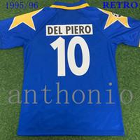 톱 1995/96/97 레트로 축구 유니폼 스타 Zidane 21 Del Piero 10 Vialli 9 Ravanelli 11 Conte Sousa Futbol Jersey 축구 셔츠 Trikot Maglia Camiseta de Shirt S-XXL