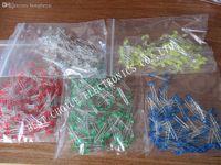 색상 적색 녹색 노랑 파랑 흰색 혼합 도매 500PCS / 많은 3MM LED 다이오드 키트