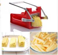 Hand Push-Typ Kartoffel Chipper Französisch Fries Slicer-Hersteller Gemüse Obst Chip Schneidevorrichtung Edelstahl-Blatt-Chopper KKA4239