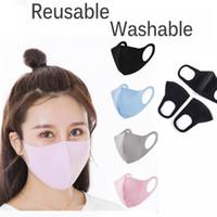 En stock ! Masques de coton de soie à glace réutilisables pour enfants adultes Housse anti-poussière PM2.5 Poussière anti-bactérienne anti-bactérien