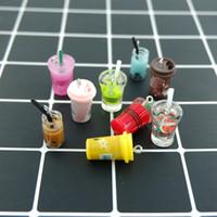 다채로운 우유 커피 Dink 매력 DIY 장식 팔찌 목걸이 귀걸이 귀걸이 키 체인 쥬얼리 만들기