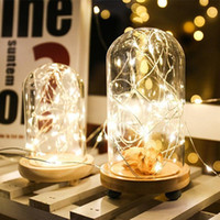 FILO DI RAME Luci 2M 20LED della lampada a forma di sughero del tappo della bottiglia di vetro chiaro di vino LED stringa per Xmas Party Wedding Halloween XD22569