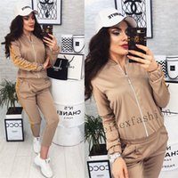 2020 Long Sleeves And Trousers For Women Sport Suit Printed ...
