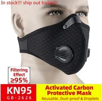 DHL Shipping Bike Active Carbon Breathing Valve Mask With Fi...