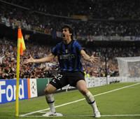 2009-2010 الرجعية inter # 22 ميليوا الأزرق لكرة القدم الفانيلة لعبة الدوري النهائيات # 4 j.zanetti # 10 sneijder soccer shirts baggio كرة القدم جيرسي