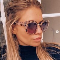 2020 Retro Oversize Cat Eye Mulheres óculos de marca Designer tartaruga Cateye Sunglasses Sexy Shades lunettes de soleil