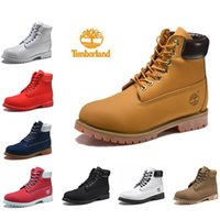 2019 New Timberland Brand Women Boots Sports Red White Yellow Blue Winter Zapatillas de deporte Casual Entrenadores Mens Women Luxury Boots Tamaño 36-45