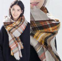 2015 ساخنة المرأة وشاح أزياء الشتاء النساء وشاح العلامة التجارية الشهيرة منقوشة سميكة شالات وبطانيات وشاح للنساء