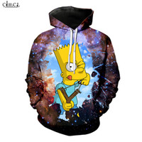 Animes Симпсоны Толстовка Мужчины Женщины 3D печати Cartoon Bart с капюшоном пальто вскользь Пары пуловеры