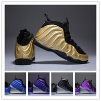 Youth Pro Metallic Gold Dr Doom Royal Kids Basketball Shoes ...