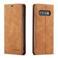 Для Samsung Galaxy S8 S9 S10 плюс 5G Примечание 8 9 A6 A7 A8 2018 J4 J6 Флип сплошной цвет чехол Простой кожаный PU слот для карт памяти слот Крышка телефона