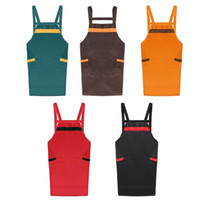 Women Men Kitchen Apron with Pockets BBQ Cleaning Cooking Ap...
