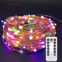 LED Işıklar Twnikle Peri Bakır Tel Ateşböceği Tatil Işıklar şeritte Su geçirmez 8 Modları 50Led 100 Led USB Plug Işıklar