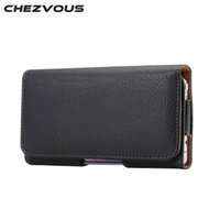 CHEZVOUS Universal 5. 2 inch Belt Clip Holster Leather Mobile...