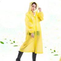 Casaco impermeável à prova de vento Rainwear Moda portátil Poncho VT1665 não descartável com capuz Raincoat longo Thicken Poncho Outdoor Caminhadas chuva