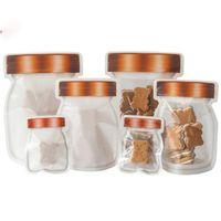 Mason Jar Jzper Bags Сумки для хранения пищевых продуктов Снаские Сандивич Сумки многоразовые Герметичные уплотнения Сумки для хранения продуктов питания Сумки для хранения продуктов питания.
