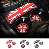 Union Jack Auto Tasse Kissen Aufbewahrungsnut Auto Rutschfeste Matte Pad für Mini Cooper Clubman F54 F55 F56 F57 F60 Countryman