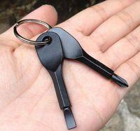 Tornavidalar Anahtarlık Açık Cebi 2 Renkler Mini Tornavida Seti Anahtarlık Oluklu Phillips El Anahtar-Kolye SN617