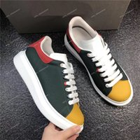 2019 جديد رجل إمرأة حذاء عرضي حذاء كلاسيكي اللون المرقعة منصة جلد التنس اللباس حذاء حذاء رياضة chaussures