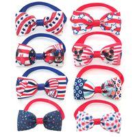 Одежда для собак 30/50 / PCS День независимости США 4 июля Pet Bowties Gology Small Cat Bowtie для собак Товары для груминга