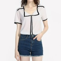 Harajuku Womens Tops And Blouses Streetwear Summer White Swe...