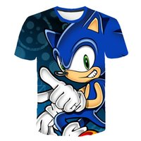 Luxury Tokyo funny movie Sonic 3D printed short-sleeved summer promotion youth fashion wild crew collar short-sleeved shirt