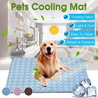 Stuoia per cani Stuoia di raffreddamento del tappetino estivo per cani per cani Cat Blanket Divano Traspirante Pet Dog Bed Summer Lavabile per piccoli cani di grandi dimensioni