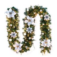 New 2,7M LED Hanging Tree ornement rotin décoration colorée pour la fête de Noël de mariage extérieurs pour la maison Garland Couronne Décoration