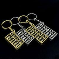 Abacus chaveiros 6 arquivos 8 arquivos ábaco chaveiro de metal prata chinês ouro vento ábaco anel chave pingente cadeia de acessórios de moda ZZA885