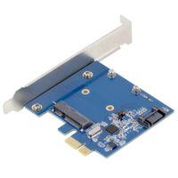Freeshipping PCI-E PCIe a SSD mSATA + SATA 3.0 Combo Extender Adattatore PCI-E a SATAIII Card Worldwide Store Novità