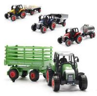 Veículos de liga de liga de veículos de construção, modelo de caminhão de coleta, Diecast Toy Vehicles, escavadeiras, caminhões de carros de brinquedo, atacado