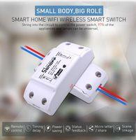 Sonoff 기본 WiFi 스위치 DIY 무선 원격 433MHz 도모티 라 가벼운 스마트 홈 오토메이션 릴레이 모듈 컨트롤러 Alexa와 함께 작동