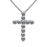 Новый Кольер Роковой Мода Новый Серебряный Крест Ожерелья Подвески Ожерелье Для Женщины Мужчины Ожерелье Ювелирные Изделия Аксессуары