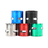 4 Layers 55*53mm Zinc alloy Herb Grinder with Window Smoke G...