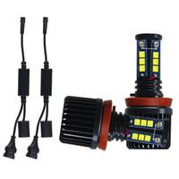 E92 H8 120W سيارة LED ملاك عيون مواسير أضواء المصابيح ل E82 / E87 / E60 / E61 / E93 / X5