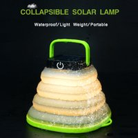 New Collapsible LED Solar Camping Lamp 500mAh USB Rechargeab...