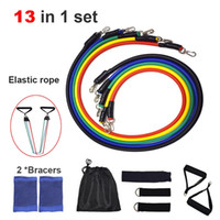 Resistance Bands Set Training Exercise Yoga Tube Pull Rope R...