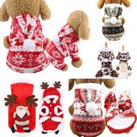 Vestido de Navidad del animal doméstico ropa de la ropa de Navidad Fiesta de Navidad un pelo sudaderas con capucha para la decoración de la ropa del perrito ropa de Navidad Gatos WX9-1710