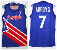 7 Carlos Arroyo Team Puerto Rico Retro Classic Basketball Jersey Mens  Stitched Custom Number and name Jerseys 54e56021f