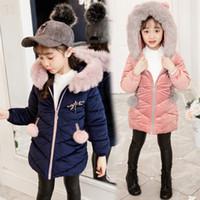 Retail kids winter coats girls Designer Jackets girl Pink Pr...