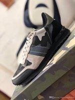 Siyah Kamuflaj Sneakers Açık Erkek Rock koşucu ayakkabı Kırmızı Kamuflaj Sneaker Yıldız Eğitmenler Çift Ayakkabı Siyah Kırmızı Süet 36-45 çivili