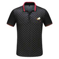 2020SS Polo Ropa para hombre Camisa Poloshirt Hombres Algodón Casa de manga corta Casual transpirable Respirador Transpirable Ropa sólida Hombres Tamaño M-3XL