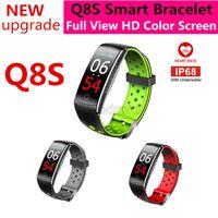 Q8S Q8 الذكية سوار اللياقة تعقب معدل ضربات القلب مراقبة ضغط الدم شاشة اللون للماء الذكية معصمه ووتش للهاتف الذكي