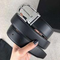 Новые моды Ремни для мужчин Женщина Повседневная Игольчатая пряжка 4 Цветовая ширина 34 мм Высокое качество с коробкой